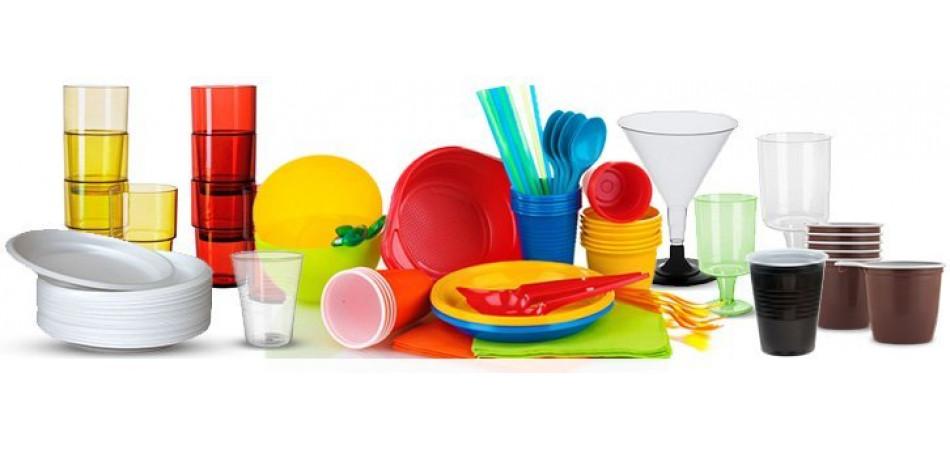 Большой выбор одноразовой посуды!