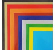Бумага цветная А4 10л/10цв.Самокл. в папке Хатбер