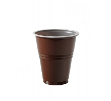Стакан 0,2 коричнево-белый 1/80/40 уп.