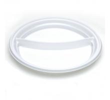Тарелка D 205 2-х секц. прозрачная 1/50/2000