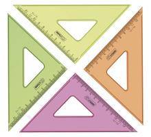 Треугольник 12см 45гр.прозрачный флю