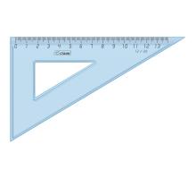 Треугольник 13см*30 прозрачный 1/48