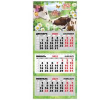 Календари-трио 2021г в ас-те 310*690мм Квадра