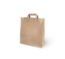 Пакет-сумка крафт 28+15*32 с плоск.ручк 1/300