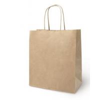 Пакет-сумка крафт 22+12*25 с кручен.ручк.70г/м2 1/250
