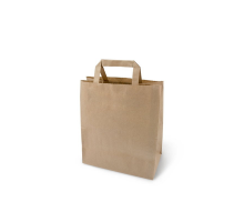 Пакет-сумка крафт 24+14*28 с плоск.ручк.80г 1/300