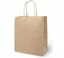 Пакет-сумка крафт 32+20*37 с кручен.ручк.70г/м2 1/200