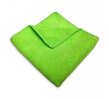 Салфетка из микрофибры 30*30 зеленая б/упак